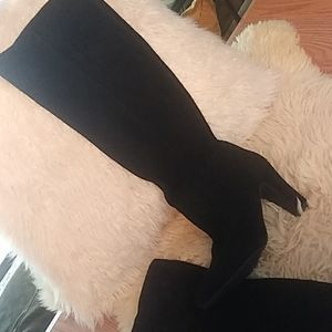 Jessica Simpson 100% black leather boots sz 10
